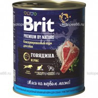 Консервы Brit Premium by Nature Beef & Rice, для собак, с говядиной и рисом - kotopes66.ru