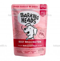 "Barking Heads Beef Waggington, паучи для собак с говядиной и бурым рисом ""Вуф-строганов"" - kotopes66.ru"